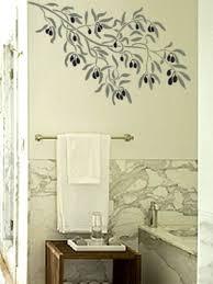 wall stencil olive branch reusable diy home decor