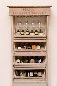 kitchen cabinets with wine rack napa vineyard crate wine rack and cabinet