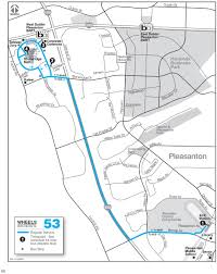 Bart Stations Map by Local Routes Wheelsbus