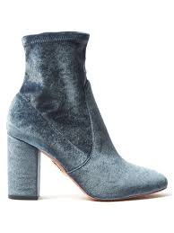 So Ankle Boots So Me Velvet Ankle Boots Aquazzura Matchesfashion Com Us