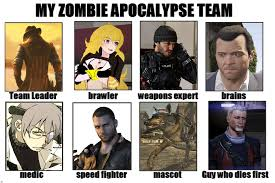 Zombie Team Meme - my zombie apocalypse team meme by dantedt34 on deviantart