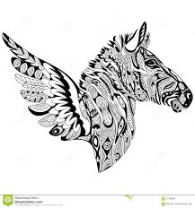 zebra coloring page stock illustration image 69518585