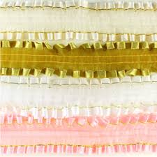 gold lace ribbon maple craft satin edge with gold stripes ruffle lace trim 1 5