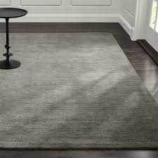 Solid Colored Rugs Baxter Grey Wool Rug Crate And Barrel