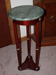Marble Top Accent Table Round Marble Top Accent Table Plant Stand Cherry Look Finish