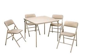 Cosco Folding Table And Chairs Cosco Products 5 Pc Folding Table And Chair Set Tan