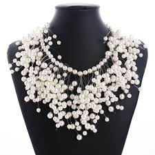 big fashion pearl necklace images 2017 new fashion beads multi layer big maxi chunky pearl necklace jpg