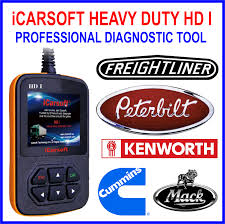 icarsoft heavy duty hd i diagnostic scanner for peterbilt cummins
