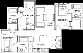 3 bedroom 3 bath floor plans villas vista sol 3 bed 3 bath vista sol student