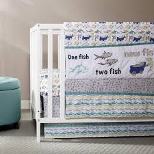 Fish Nursery Decor Trend Lab Dr Seuss New Fish 5 Baby Crib Bedding Set