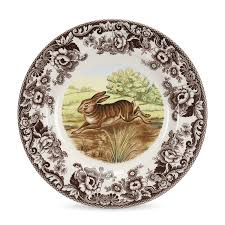 spode woodland rabbit dinner plate spode dinnerware