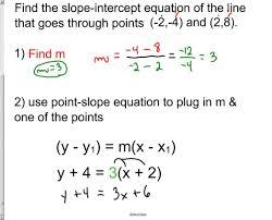 write equation of line point slope formula formua vawebs