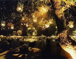 Hanging Light Decorations Wedding Decoration Ideas Night Outdoor Wedding Reception