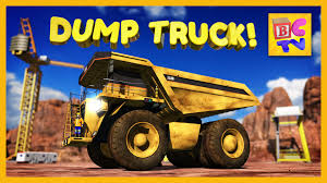 kids monster truck video learn about dump trucks for children educational video for kids