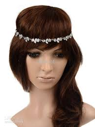 chain headband women fashion metal rhinestone chain jewelry headband
