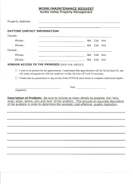 Maintenance Request Form Template by Maintenance Request Form Writing Professional Letters