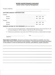 maintenance request form template maintenance request form writing professional letters