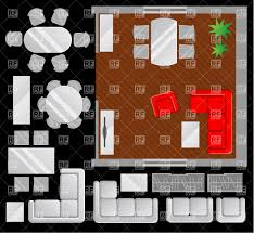 Living Room Layout Planner by Room Designing Living Room Plan With Furniture Set Vector