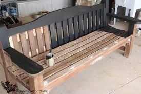 park bench makeover the wood grain cottage