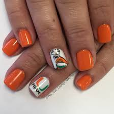 miami hurricanes nail art design nail art pinterest miami