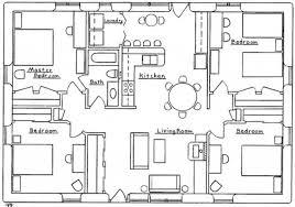 4 bedroom house blueprints 4 bedroom bungalow floor plans memsaheb