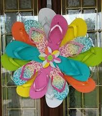 flip flop wreath flip flop wreath search craft project stuff