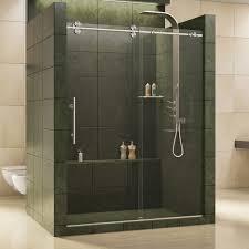 Dreamline Shower Doors Frameless Faucet Shdr 60607912 07 In Brushed Stainless Steel By Dreamline