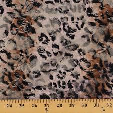 leopard fabric leopard skin print stretch lace nylon lycra fabric by the yard