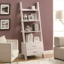 monarch specialties i2562 69 h ladder bookcase in white with 2