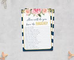 who knows bride best navy pink bridal shower printable bride