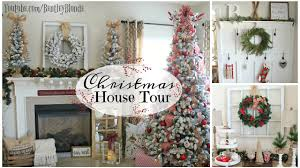 Christmas Home Decoration Pic House Tour 2016 Christmas Farmhouse Decor On A Budget Youtube