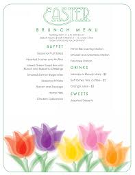 Easter Brunch Buffet Menu by Easter Brunch Menu Tellico Village Yacht Club