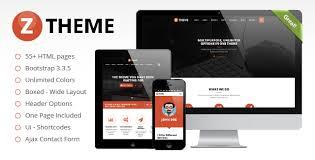 Ztheme Multipurpose Responsive Template Html Bootstrap Template Themes Templates
