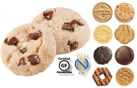 scouts add gluten free chocolate chip shortbread cookie to