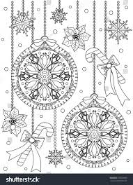 christmas coloring page stock vector 376520383 shutterstock