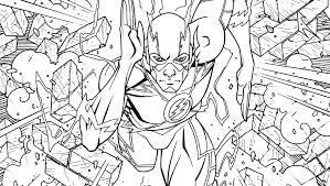 the flash an coloring book dc