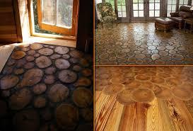 log floor end grain wood flooring diy cozy home