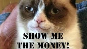 Show Me The Money Meme - yea show me the money grumpy cat pinterest grumpy cat