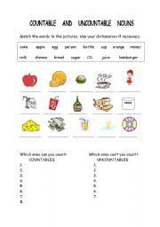 Countable And Uncountable Nouns Teaching Worksheets Countable Uncountable Nouns