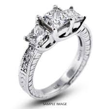 platinum vintage rings images Platinum vintage style trellis three stone engagement rings with jpg