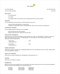 Resume For Babysitting Examples by Sample Babysitter Resume 7 Examples In Word Pdf