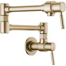 Pot Filler Kitchen Faucet Brizo 62820lf Gl Euro Luxe Gold Pot Filler Kitchen Faucets