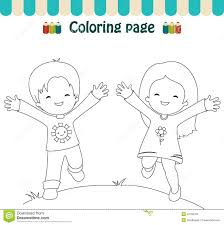 coloring pages happy boy boy and girl coloring pages vitlt com