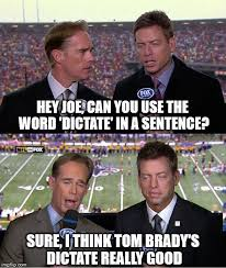 Joe Buck Meme - image tagged in funny memes joe buck troy aikman nfl tom brady