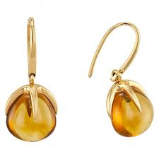 citrine earrings pomellato 18kt yellow gold citrine earrings 852856 pomellato