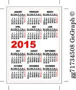 vector illustration 2018 calendar template eps clipart