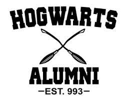hogwarts alumni bumper sticker hogwarts decal etsy