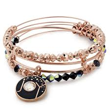 rose gold bangle bracelet images Alex and ani joy set of 3 bangle bracelets shiny rose gold jpg