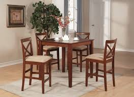 3 Piece Dining Room Set by 3pc Square Pub Counter Height Table 36 In Set 2 Stools In Brown Finish