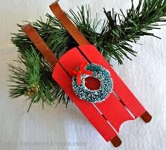 one wood sled ornament three styles k bray designs